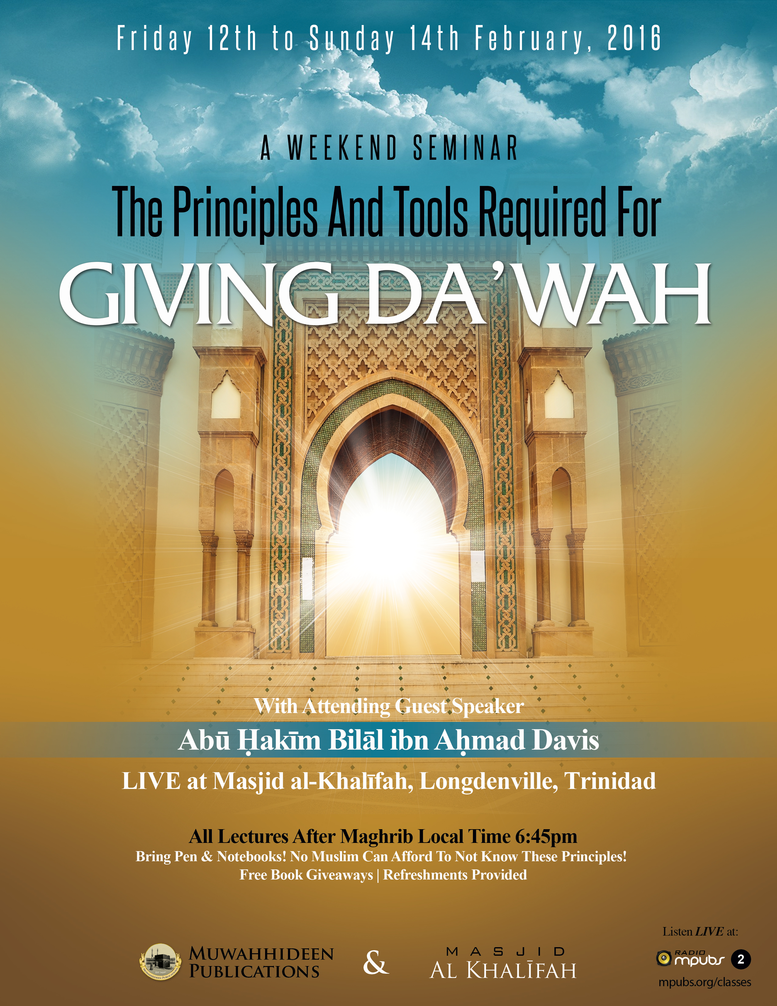 Seminar 20160212 principles for giving dawah