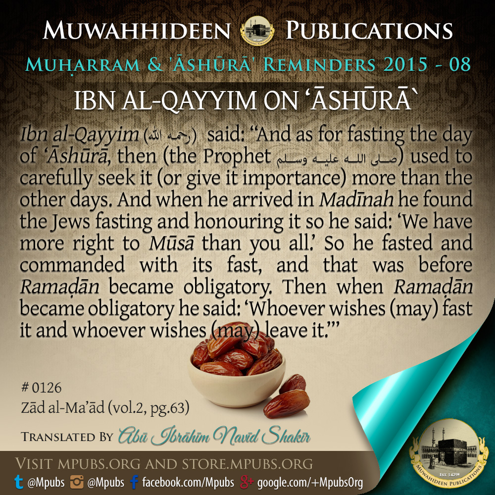 quote0126 ibn ul qayyim on ashooraa eng