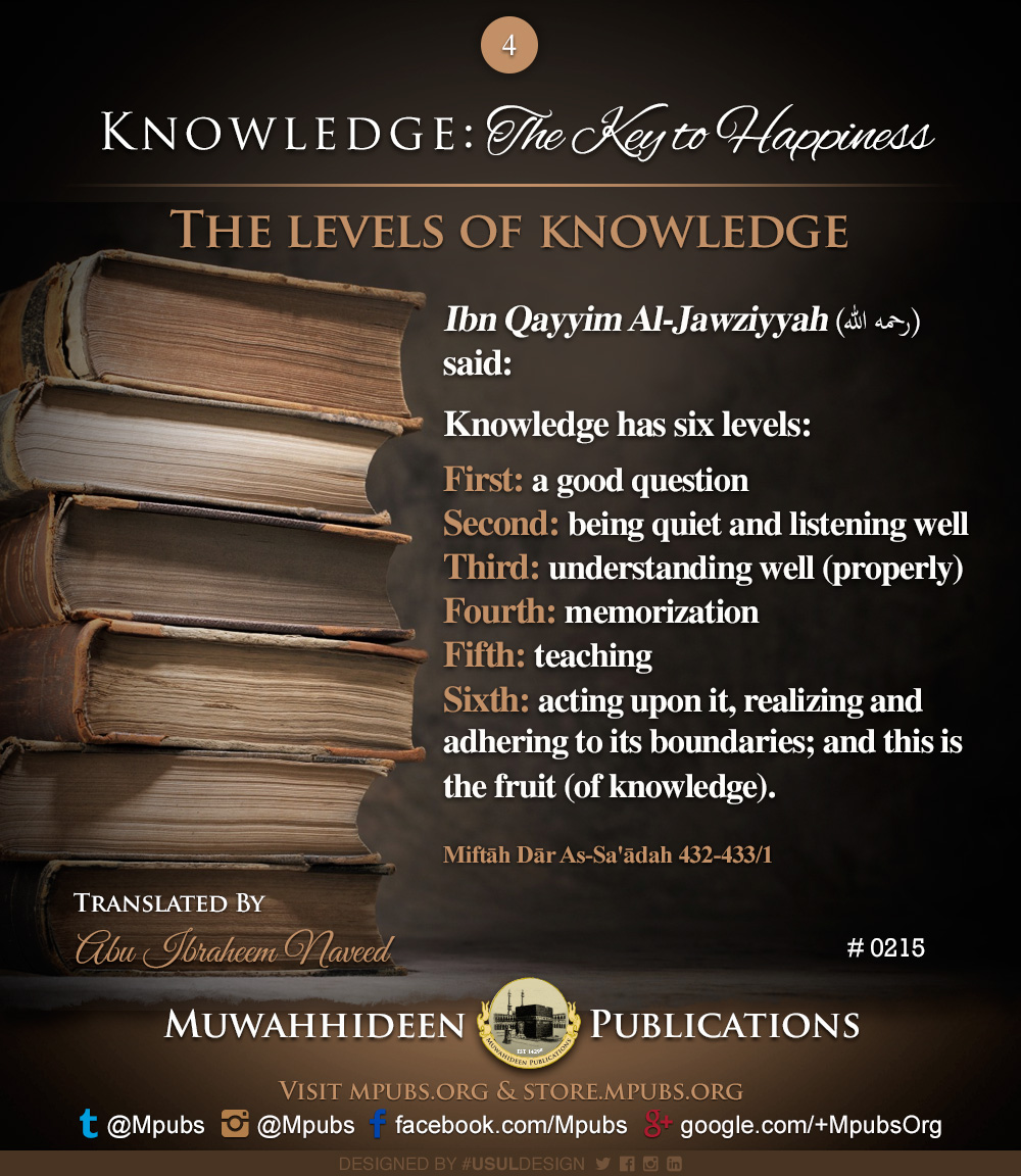 quote0215 knowledge the key to happiness the levels of knowledge eng