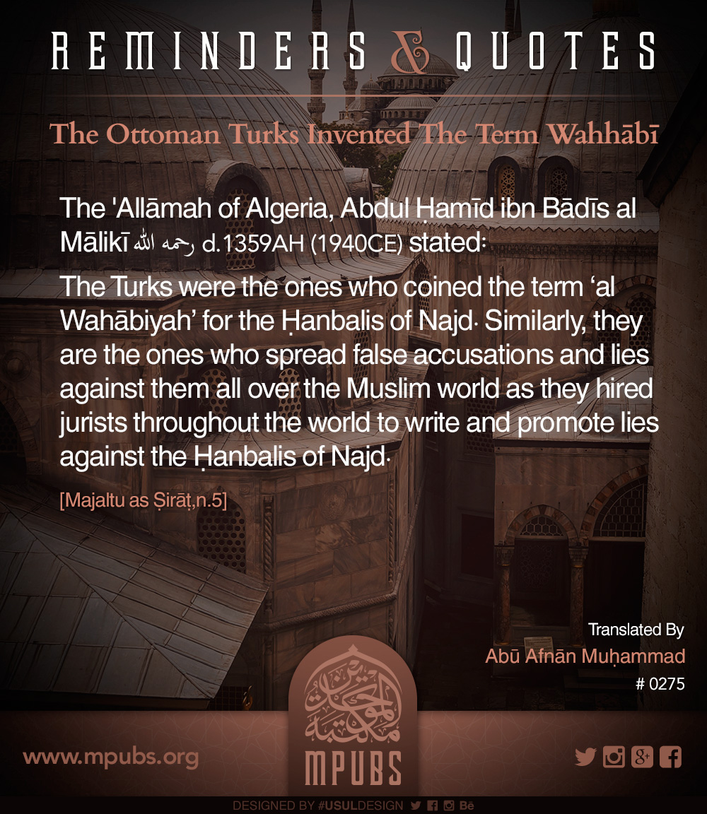 quote0275 the ottoman turks invented the term wahhabi eng